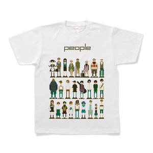 ドット絵 Tシャツ people