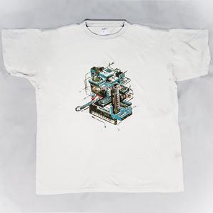 【PixelArtPark4】シルクスクリーン ドット絵 Tシャツ 白
