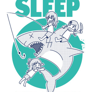 SHARKS CAN'T SLEEP Tシャツ