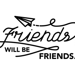 Friends Will Be Friends Tシャツ(XLサイズ)