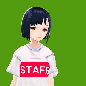 【VRoid衣装】STAFFTシャツ