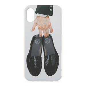 iPhoneケース(靴と手)