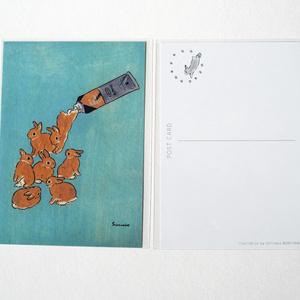 Schinako's Art Postcard (Color of Raw Sienna)