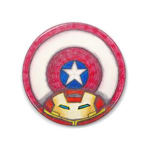 C.V.I (Captain America VS Iron Man) バッジ