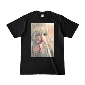 「さっさと死のう」Tシャツ黒