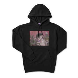 「pink」パーカー黒