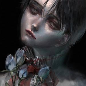 「青薔薇」ポストカード