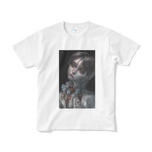 「青薔薇」Tシャツ短納期白