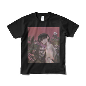 「pink」Tシャツ短納期黒