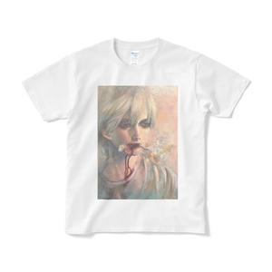 「さっさと死のう」Tシャツ短納期白