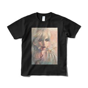 「さっさと死のう」Tシャツ短納期黒