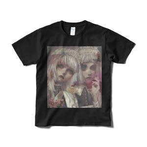 「maid」Tシャツ短納期黒
