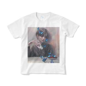 「蝶」短納期Tシャツ白&黒