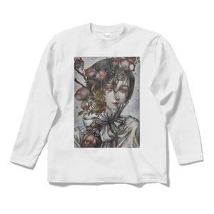 「花器」ロングスリーブTシャツ白&黒