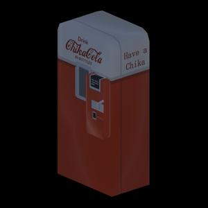 古のチカ・コーラ販売機