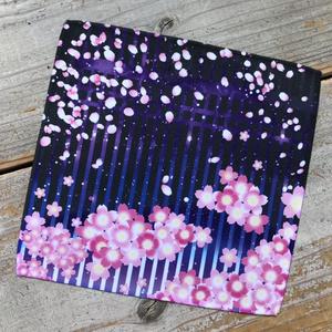 いつでも撮影ハンカチーフ・紫桜