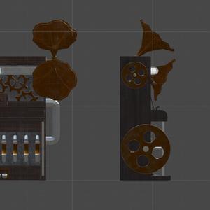 【3Dモデル】スチームパンク形のオブジェクト「ピアノ」