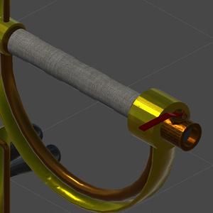 【3Dモデル】スチームパンク形のオブジェクト「カットラス」