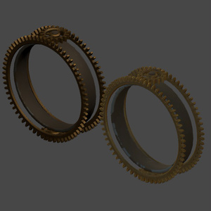 【3Dモデル】スチームパンク形の腕輪