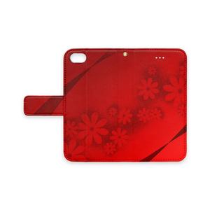 「真っ赤な花とリボン」iPhone7/8対応ケース