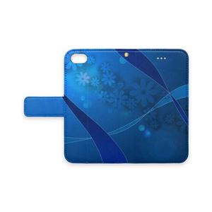 「青い花とリボン」iPhone7/8対応ケース