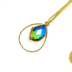 青と緑のネックレス