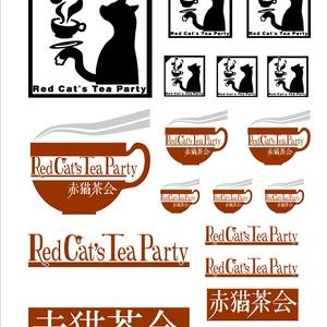 赤猫茶会オリジナルシール詰合せ(透明台紙)