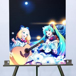 初音ミク×東雲めぐアコースティックライブ -Art by 五十嵐拓也 キャンバスアート+ホロポスター