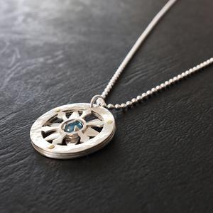 〈銀星晶〉純銀×天然石ネックレス