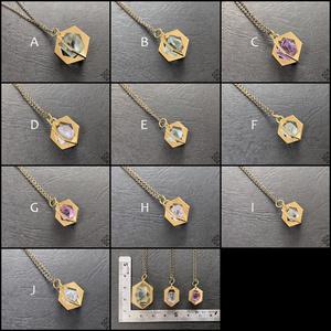 〈結晶標本〉蛍石ネックレス