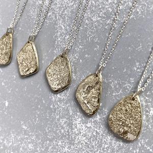〈記憶結晶〉純銀×真鍮ネックレス