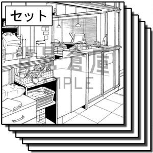 店舗の背景集_セット5(カフェ)