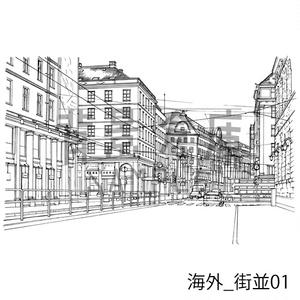 海外の背景_セット1(街並)