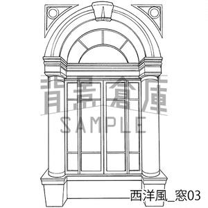 西洋風の背景集_セット10(窓)