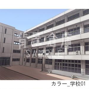 カラー背景_セット1(学校)