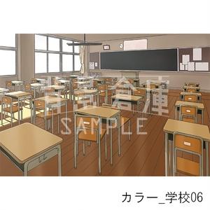 カラー背景_セット2(学校)