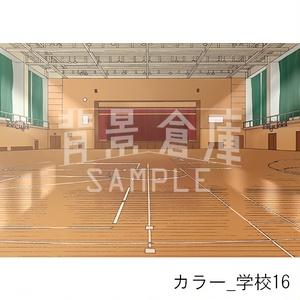 カラー背景_セット4(学校)