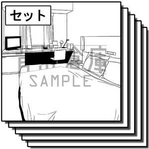 店舗の背景_セット6(ホテル)