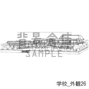 学校の背景集_セット24(外観)