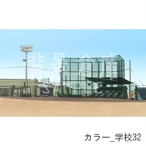 カラー背景集_セット7(学校)