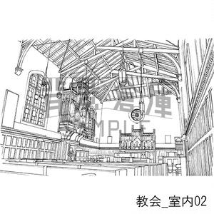 教会の背景集_セット1(室内)
