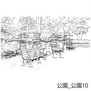 公園の背景集_セット2(公園)