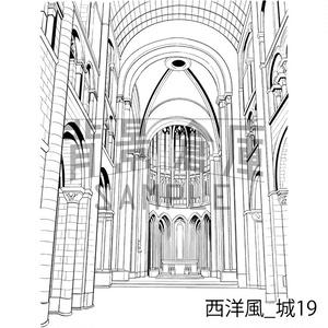 西洋風の背景集_セット13(城)
