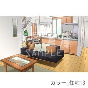 カラー背景集_セット21(住宅)
