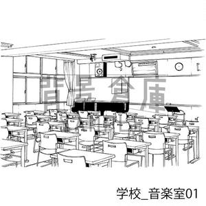学校の背景集_セット27(保健室)
