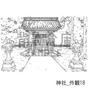 神社の背景集_セット3(外観)