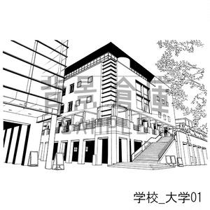 学校の背景集_セット28(大学)