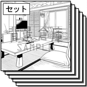 店舗の背景集_セット13(温泉)
