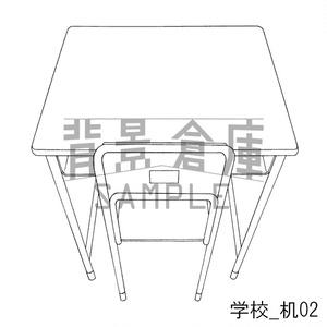 学校の背景集_セット4(机)