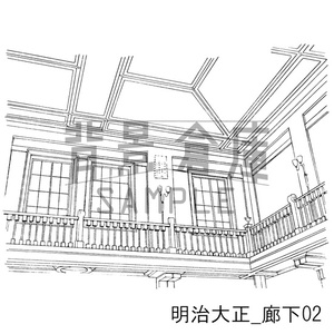明治大正の背景集_セット2(廊下)